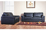Enna Leather Sofas - Shown in Black