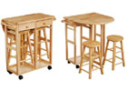 Breakfast Set Trolley with 2 Stools