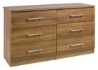 Andante Walnut Finish Three Drawer Double Chest