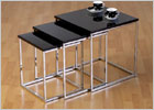 Charisma Black Glass Nest of Tables