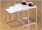 Charisma White Glass Nest of Tables