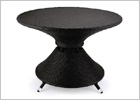 Rattan Round Table with 8mm Tempered Glass