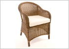 Synthetic Resin Weave Wicker Armchairs