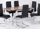 Large Evolve Dining Set Shown with Six Chairs