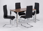 Medium Evolve Dining Set Shown with Four Chairs