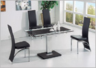 Gami Extending Dining Set and G525 Tall Back Cut Out Chairs