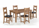Dorset Extending Dining Set - Closed with Four Chairs