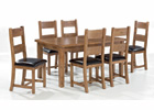 Dorset Extending Dining Set - Extended with Six Chairs