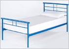 Gemini Single Bed with Blue Finish
