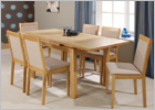 Greenwich Extending Dining Table with Cream Chairs