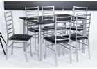 Lincoln Black Glass Dining Table