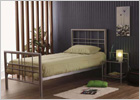 Metro Double Metal Bed - Silver