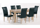Moda Dining Table Plus Six Dining Chairs