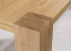 Nordic Solid Oak Coffee Table - Close Up View