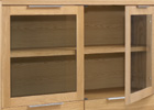 Nordic Solid Oak Display Cabinet