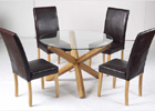 Oporto Dining Table and Four Cordoba Dining Chairs