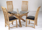 Oporto Dining Table and Four Mirelle Dining Chairs