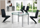 Maxi Clear Dining Table with Black G632 Chairs