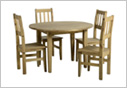 Mexican Round Drop Leaf Dining Set - Extended