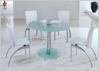 Mini Round Dining Set with Black Glass and G612 Chairs