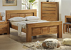 Victoria King Size Solid Oak Bed